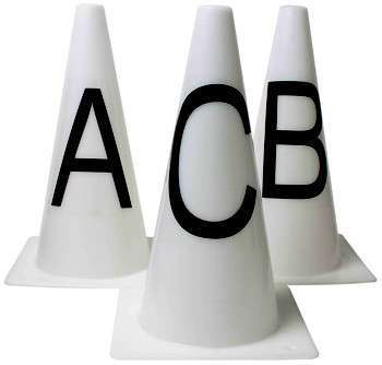 Roma Dressage Cones Afbmchek - Set of 8