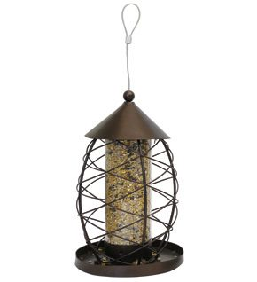 Rosewood Antique Bird Seed Lantern