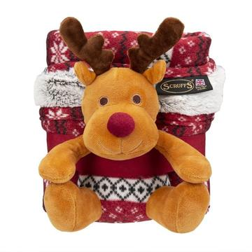 Scruffs Santa Paws Blanket and Reindeer Gift Set