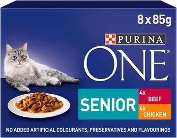 PURINA ONE Senior 7+ Mini Fillets in Gravy Cat Food