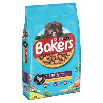 Bakers Senior Dry Dog Food Chicken and Veg