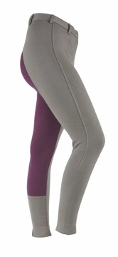 Shires Wessex Ladies Dark Grey/Plum Two Tone Jodhpurs