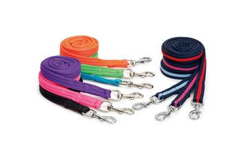 Shires Wessex Navy/Pink Cushion Web Lead Rein