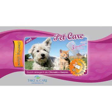Take&Care Pet Care Wet Cleaning Gloves