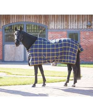 Tempest Plus Navy Check Lite Stable Rug