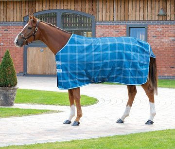 Tempest Plus Teal Check Lite Stable Rug