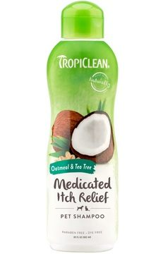 TropiClean Oatmeal & Tea Tree Medicated Itch Relief Pet Shampoo