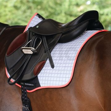 WeatherBeeta Reflective Prime All Purpose Saddle Pad Silver/Pink