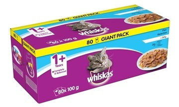 Whiskas 1+ Adult Cat Giant Selection Packs