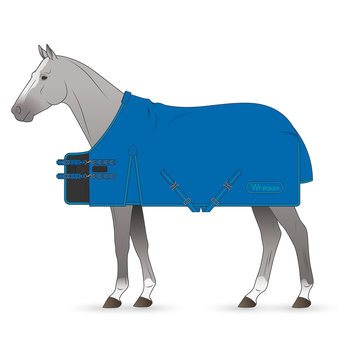 Whitaker Mid Blue Exley Turnout Rug