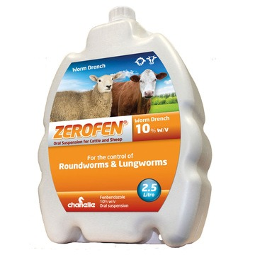 Zerofen 10% Worm Drench for Sheep & Cattle