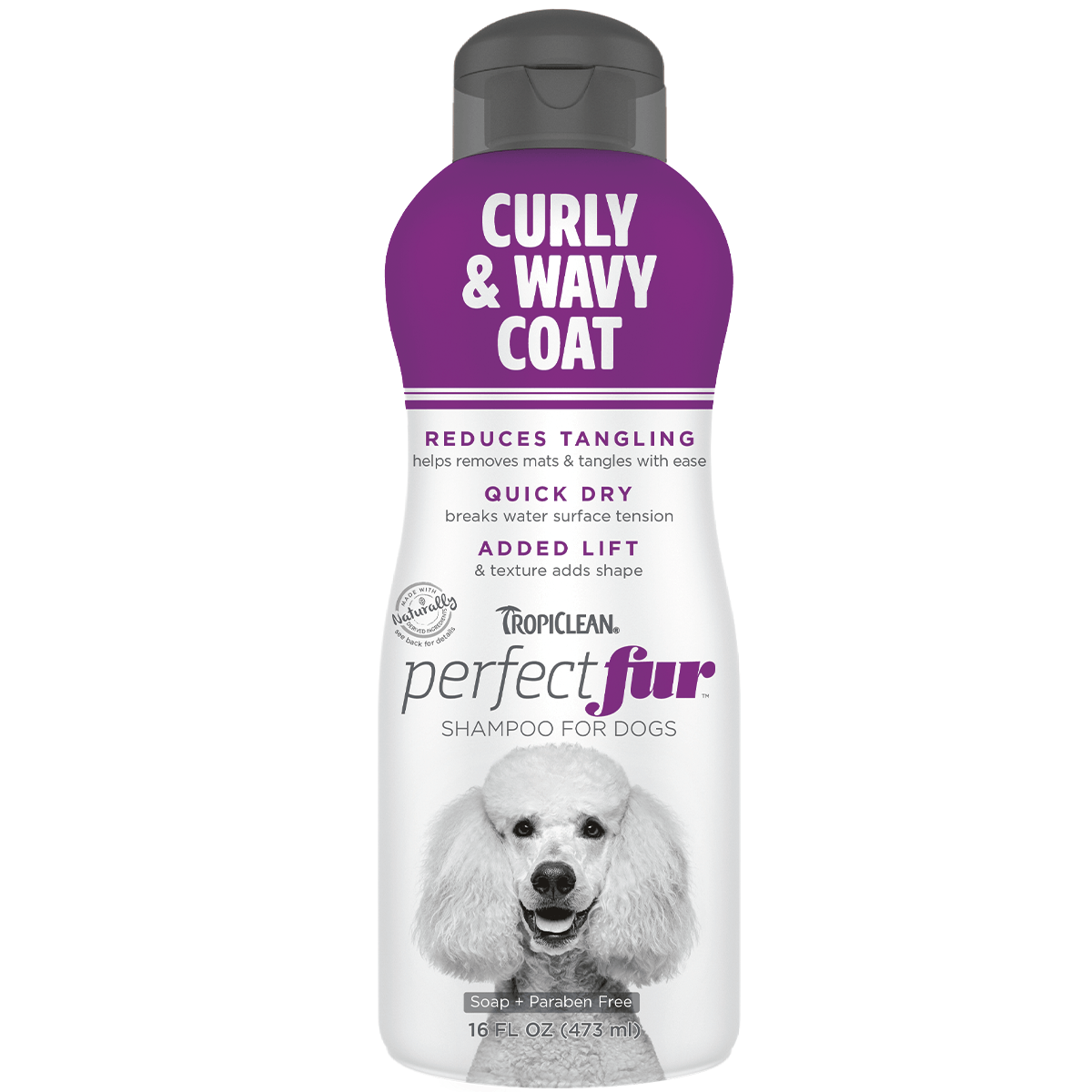 TropiClean Perfect Fur Curly & Wavy Coat Shampoo for Dogs