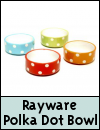 Rayware Polka Dot Small Animal Bowl
