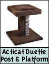 Ancol Acticat Duette Post & Cushioned Platform Cat Scratching Post