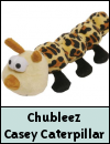Chubleez Casey Caterpillar Mini Dog Toy