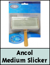 Ancol Wooden Handle Medium Slicker