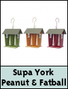 Supa York Peanut & Fatball Wild Bird Feeder