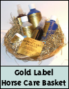 Gold Label Horse Care Gift Basket