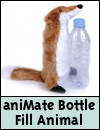 aniMate Squeaky Wild Animal Bottle Fill Dog Toy