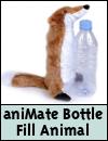 aniMate Squeaky Wild Animal Bottle Fill Dog Toy