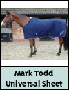 Mark Todd Universal Sheet Navy/White