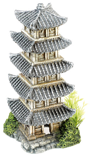 Oriental Tower With Plants » 16cm