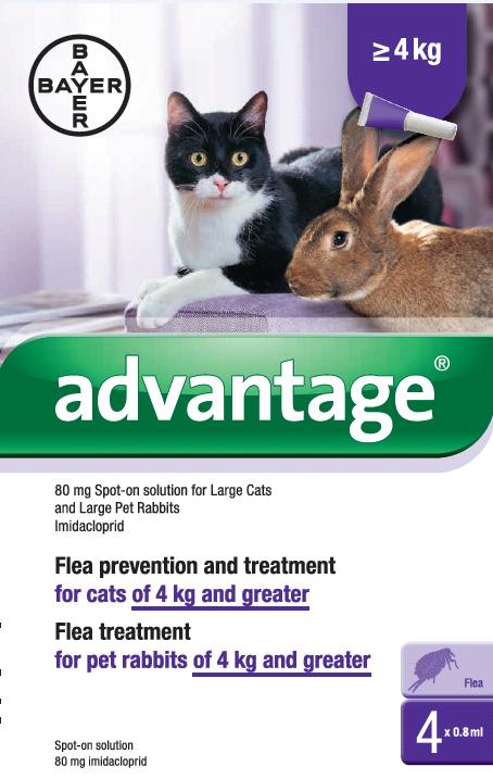 advantage flea control for dogs cats rabbits. Black Bedroom Furniture Sets. Home Design Ideas