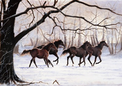 Winter Gallop » Double Mounted