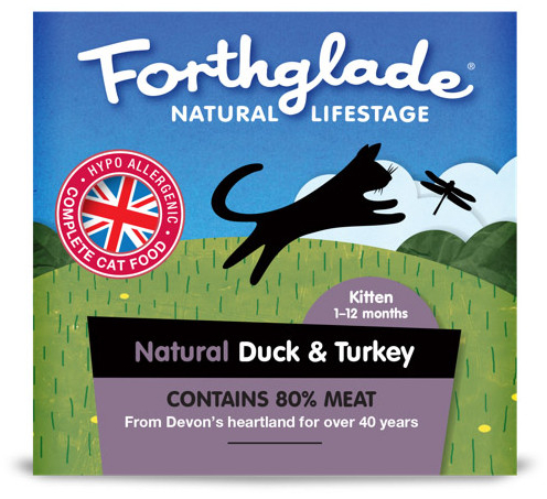 Kitten Duck & Turkey Wet » 12 x 90g Trays