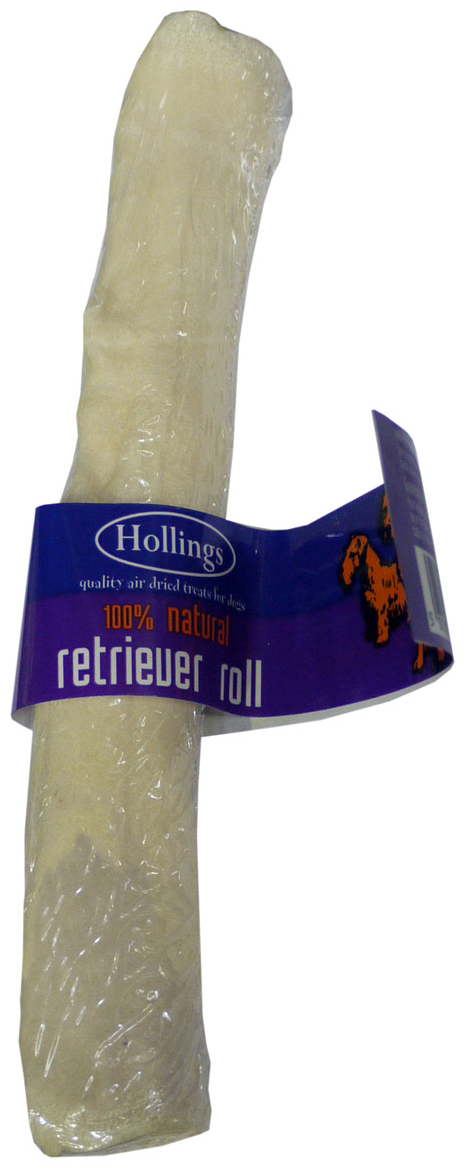 White Rawhide Retriever Roll Dry » Single