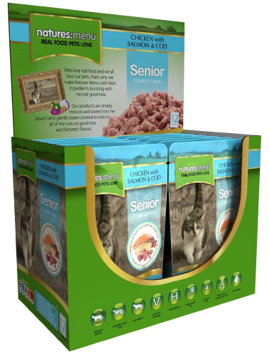 Senior Chicken Salmon Cod Wet » 12 x 100g Pouches
