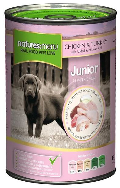 Chicken & Turkey with Herbs Junior » Wet » 12 x 400g Cans