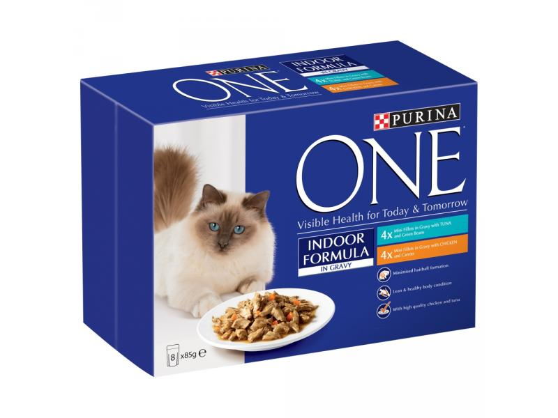 Indoor Cat » Tuna & Chicken » 8 x 85g