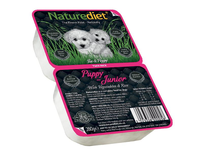 Twin Pack » Puppy/Junior » 18 x 280g Trays