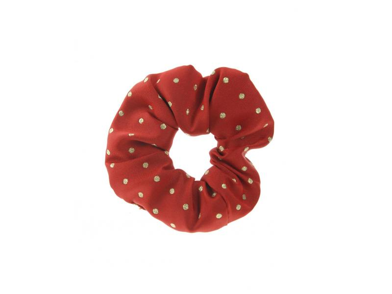 Lurex Medium Spot Red/Gold