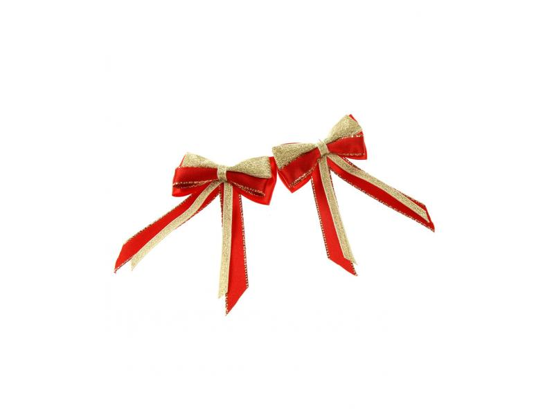 Piggy Bow & Tails » Red/Gold