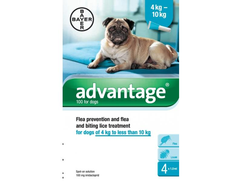 100 Medium Dogs 4-10kg » 4 Pipettes