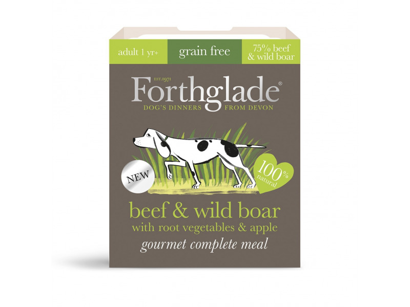 Grain Free Beef & Wild Boar with Root Vegetables & Apple » 7 x 395g